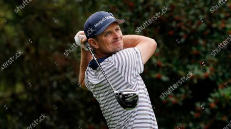 Justin Rose, of England, during the first round of the Masters golf tournament, in Augusta, Ga