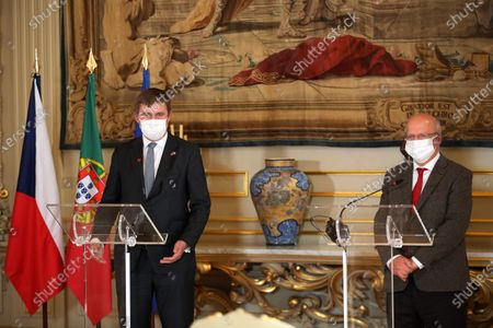 Editorial picture of Diplomacy: Foreign ministers joint press conference, Lisboa, Portugal - 13 Nov 2020