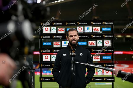 Ireland vs Wales. Ireland head coach Andy Farrell speaks to the media ahead of the game