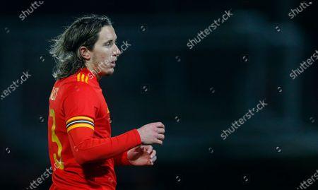 Defender Aaron Lewis of Wales U21