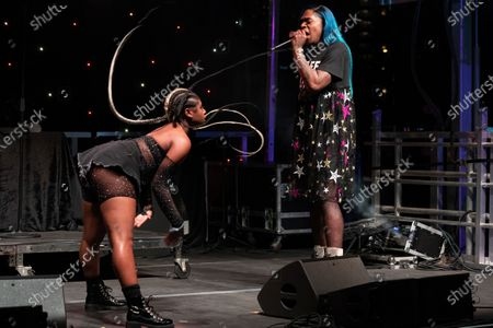Stock Image of Big Freedia performs onstage during the Long Live Music event on the lawn at the Long Center