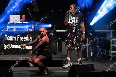 Stock Picture of Big Freedia performs onstage during the Long Live Music event on the lawn at the Long Center