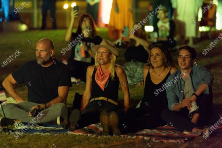 Socially distanced fans attend a Long Live Music event featuring Tank and the Bangas and Big Freedia on the lawn at the Long Center