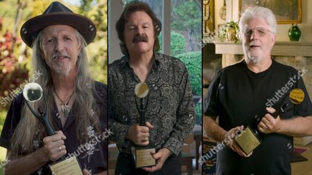 Patrick Simmons, Tommy Johnston and Michael McDonald of the Doobie Brothers