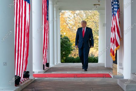 Editorial image of President Donald Trump delivers an update on Operation Warp Speed, Washington, District of Columbia, USA - 13 Nov 2020