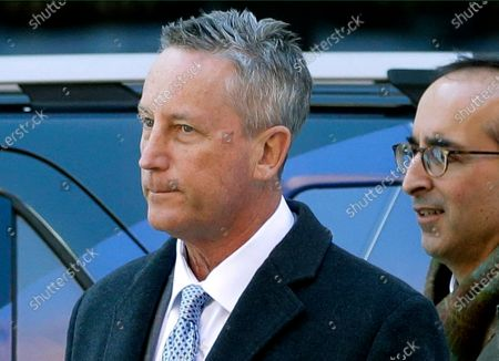 Stock Image of Martin Fox, from a private tennis academy in Houston, arrives at federal court in Boston to face charges in a nationwide college admissions bribery scandal. Fox, the former president of a private tennis club in Texas was sentenced to three months in prison followed by three months in home confinement for his role in the sweeping college admissions bribery scheme