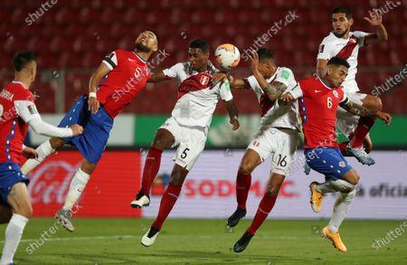 Editorial image of Peru Wcup Soccer, Santiago, Chile - 13 Nov 2020