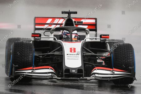 French Formula One driver Romain Grosjean of Haas F1 Team in action during the qualifying practice session of the Formula One Grand of Turkey on the Intercity Istanbul Park circuit, Istanbul, Turkey, 14 November 2020. The Formula One Grand of Turkey will take place on 15 November 2020.