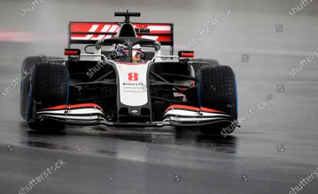 Haas driver Romain Grosjean of France steers his car during the qualifying session at the Istanbul Park circuit racetrack in Istanbul, . The Formula One Turkish Grand Prix will take place on Sunday