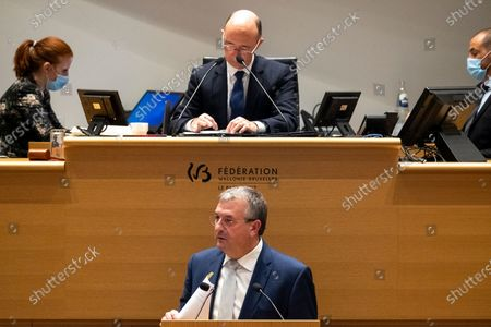 Editorial photo of Federation Wallonia Brussels Plenary, Brussels, Belgium - 14 Nov 2020