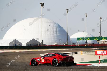 BAHRAIN INTERNATIONAL CIRCUIT, BAHRAIN - NOVEMBER 13: #90 TF Sport Aston Martin Vantage: Salih Yoluc, Charles Eastwood, Jonathan Adam during the Bahrain II at Bahrain International Circuit on November 13, 2020 in Bahrain International Circuit, Bahrain. (Photo by JEP / LAT Images)