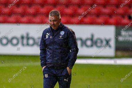 Peterborough Utd Manager Darren Ferguson during the EFL Sky Bet League 1 match between Crewe Alexandra and Peterborough United at Alexandra Stadium, Crewe