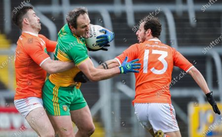 Donegal vs Armagh. Donegal's Michael Murphy with Aidan Forker and Jamie Clarke of Armagh
