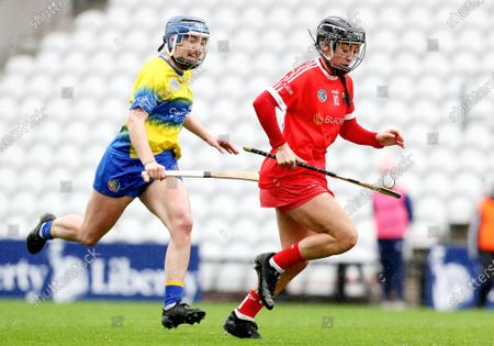 Clare vs Cork. Clare's Clare Hehir and Amy O'Connor of Cork