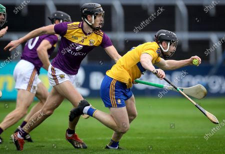 Clare vs Wexford. Clare's Tony Kelly and Joe O'Connor of Wexford