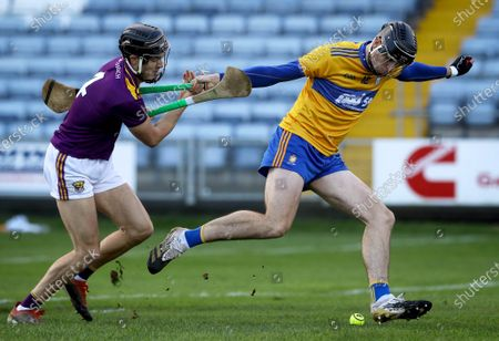 Stock Picture of Clare vs Wexford. Clare's Colin Guilfoyle and Joe O'Connor of Wexford