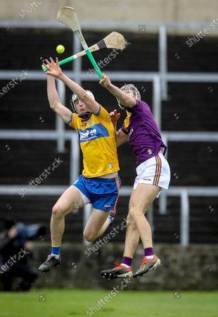 Clare vs Wexford. Clare's Diarmuid Ryan and Joe O'Connor of Wexford