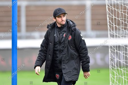 Fleetwood Town manager Joey Barton  ahead of the EFL Sky Bet League 1 match between Bristol Rovers and Fleetwood Town at the Memorial Stadium, Bristol