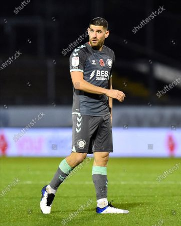 Ched Evans (9) of Fleetwood Town during the EFL Sky Bet League 1 match between Bristol Rovers and Fleetwood Town at the Memorial Stadium, Bristol