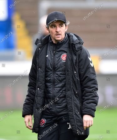 Stock Photo of Fleetwood Town manager Joey Barton  ahead of the EFL Sky Bet League 1 match between Bristol Rovers and Fleetwood Town at the Memorial Stadium, Bristol