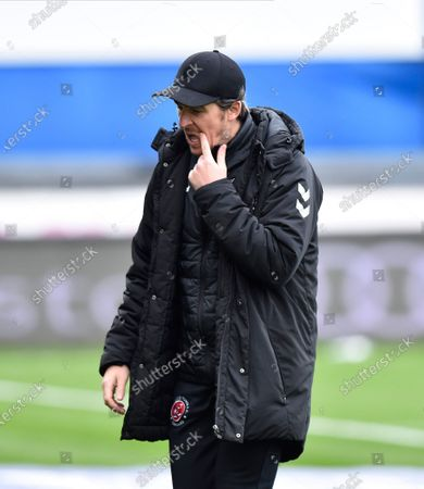 Stock Image of Fleetwood Town manager Joey Barton  ahead of the EFL Sky Bet League 1 match between Bristol Rovers and Fleetwood Town at the Memorial Stadium, Bristol