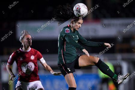 Alex Morgan of Tottenham Hotspur Women contends for the aerial ball