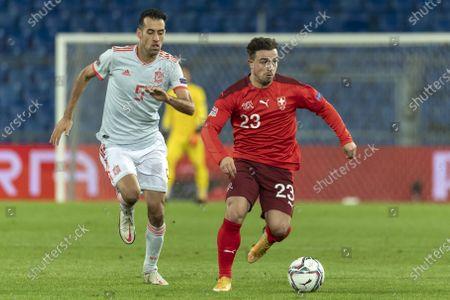 Editorial photo of Switzerland vs Spain, Basel - 14 Nov 2020