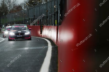 Stock Photo of BRANDS HATCH, UNITED KINGDOM - NOVEMBER 14: Tom Chilton (GBR) - BTC Racing Honda Civic Type R during the Brands Hatch GP at Brands Hatch on November 14, 2020 in Brands Hatch, United Kingdom. (Photo by JEP / LAT Images)