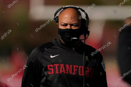 Stanford head coach David Shaw walks on the sideline during the first half of an NCAA college football game against Colorado in Stanford, Calif