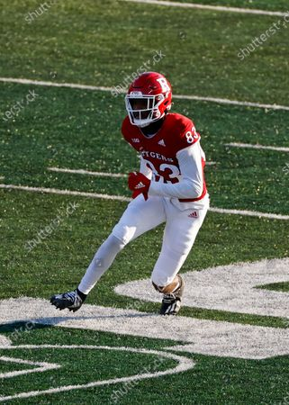 Rutgers wide receiver Isaiah Washington (83) in action during the second half of an NCAA college football game against Illinois, in Piscataway, N.J. Illinois won 23 - 20