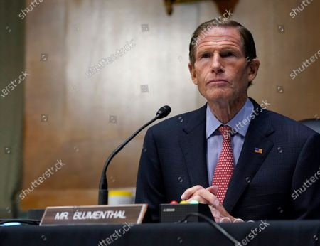 Stock Photo of Sen. Richard Blumenthal, D-Conn., speaks during a Senate Judiciary Committee hearing on Capitol Hill in Washington. Blumenthal and Connecticut Sen. Chris Murphy will be self-isolating after a member of Connecticut Gov. Ned Lamont's staff tested positive for COVID-19. Both tweeted, that they had not had close contact with the staffer but were taking the step out of an abundance of caution