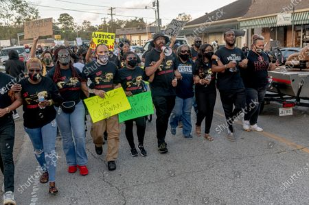 Editorial image of 'Justice for Quawan Charles' march, Baldwin, USA - 14 Nov 2020