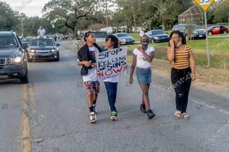 Editorial photo of 'Justice for Quawan Charles' march, Baldwin, USA - 14 Nov 2020