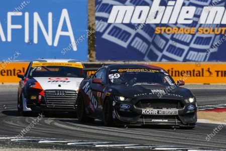 IMSA Continental Tire SportsCar Challenge Mazda Raceway Laguna Seca 240 Mazda Raceway Laguna Seca Monterey, CA USA Saturday 23 September 2017 59, Ford, Ford Mustang, GS, Dean Martin, Jack Roush Jr, Nate Stacy World Copyright: Jake Galstad LAT Images