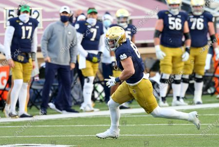 Stock Picture of Chestnut Hill, MA, USA; Notre Dame Fighting Irish tight end Michael Mayer (87) in action during the NCAA football game between Notre Dame Fighting Irish and Boston College Eagles at Alumni Stadium