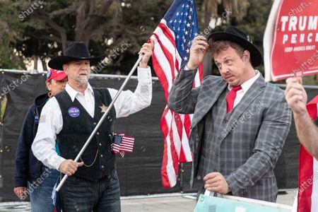 Editorial picture of MAGA and QAnon rally, Los Angeles, USA - 14 Nov 2020