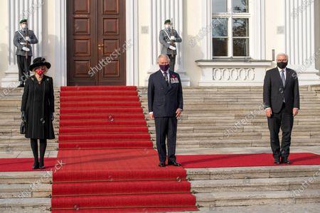 Camilla Duchess of Cornwall Prince Charles Frank-Walter Steinmeier at Bellevue Schloss
