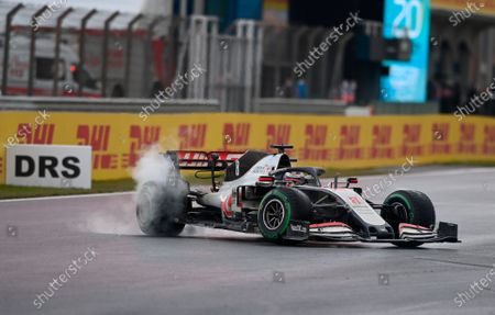 Stock Picture of French Formula One driver Romain Grosjean of Haas F1 Team in action during the Formula One Grand of Turkey on the Intercity Istanbul Park circuit, Istanbul, Turkey, 15 November 2020.