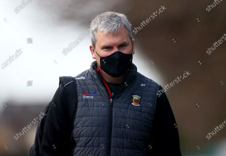 Galway vs Mayo. Mayo manager James Horan arrives