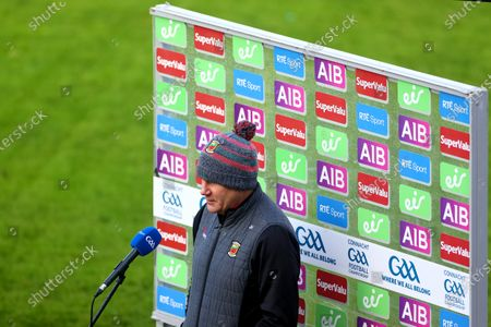Galway vs Mayo. Mayo manager James Horan is interviewed ahead of the game