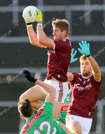Galway vs Mayo. Galway's Gary O'Donnell and Paul Conroy with Diarmuid O'Connor of Mayo