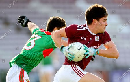 Stock Image of Galway vs Mayo. Mayo's Tommy Conroy and Sean Kelly of Galway