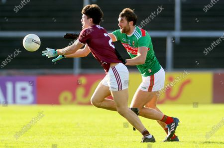 Stock Picture of Galway vs Mayo. Galway's Sean Kelly and Aidan O'Shea of Mayo