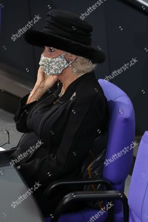 Camilla Duchess of Cornwall in the Bundestag (German Federal Parliament), for the Central Remembrance Ceremony to mark the National Day of Mourning.