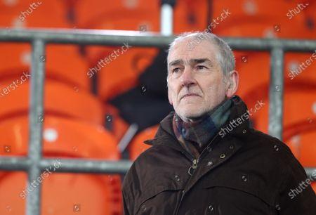 Cavan vs Down. Mickey Harte attends the game