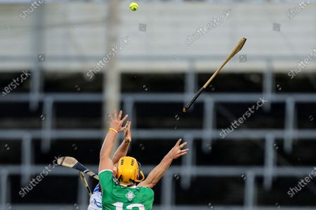 Waterford vs Limerick. Waterford's Tadhg De Burca and Tom Morrissey of Limerick