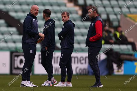 Stock Picture of Charlie Adam (Dundee), Paul McGowan (Dundee) and Dave Mackay (Dundee) before the Betfred Scottish League Cup match between Hibernian and Dundee at Easter Road, Edinburgh