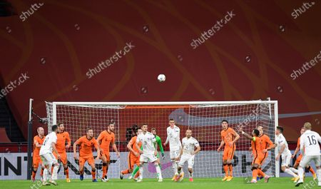 The empty stadium is seen during the UEFA Nations League soccer match between The Netherlands and Bosnia and Herzegovina at the Johan Cruyff ArenA in Amsterdam, Netherlands