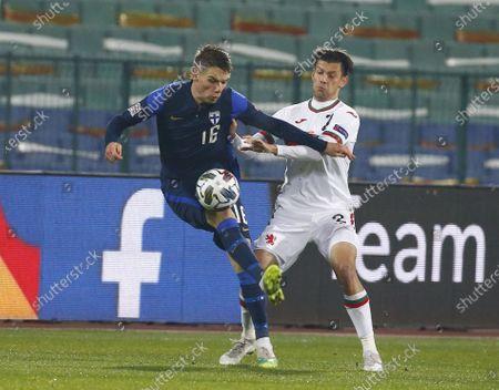 Editorial picture of Finland Nations League Soccer, Sofia, Bulgaria - 15 Nov 2020