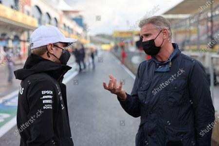 Valtteri Bottas, Mercedes-AMG Petronas F1, talks to Presenter David Coulthard.  during the 2020 Formula One Turkish Grand Prix